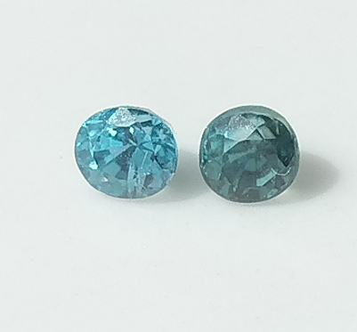 0.61 ct. Oval pair Natural Blue Zircon