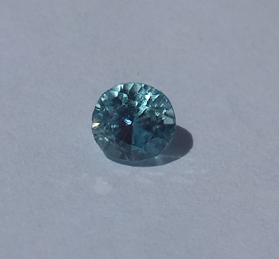 0.71 ct. Round Natural Blue Zircon