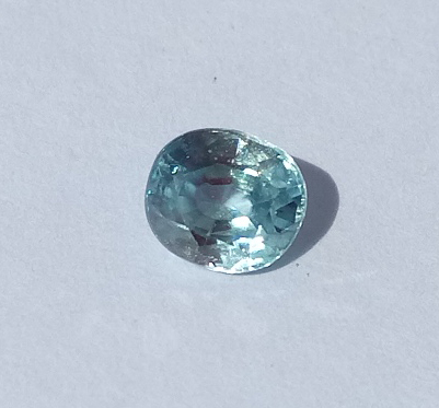 0.73 ct. Oval Natural Blue Zircon