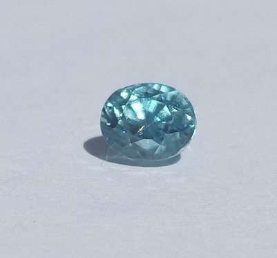 0.78 ct. Oval Natural Blue Zircon