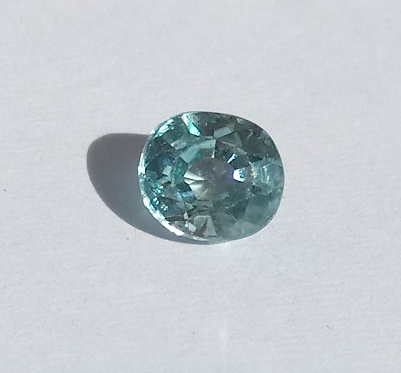 0.85 ct. Oval Natural Blue Zircon