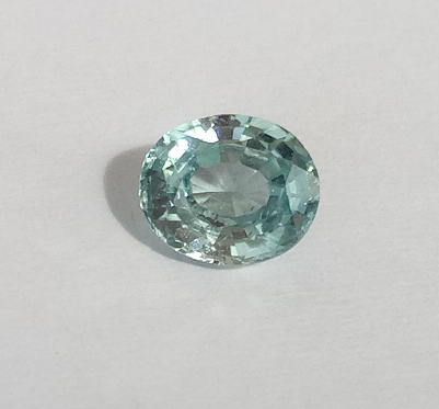0.87 ct. Oval Natural Blue Zircon
