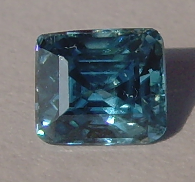 1.00 ct. Octagon Natural Blue Zircon
