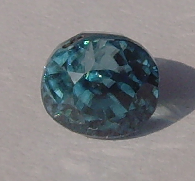 1.83 ct. Oval Natural Blue Zircon