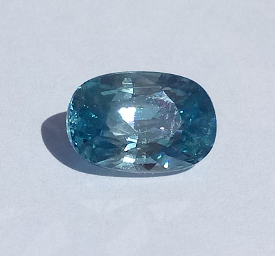 3.22 ct. Oval Natural Blue Zircon