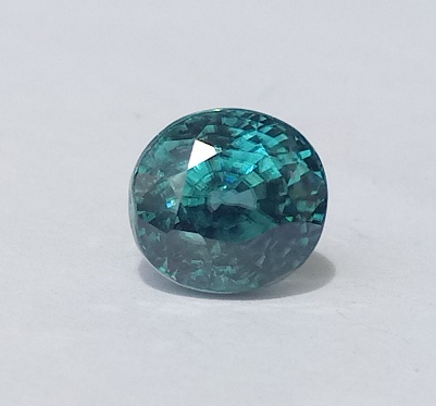 5.74 ct. Oval Natural Blue Zircon