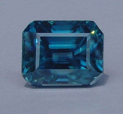 7.18 ct. Octagon Natural Blue Zircon