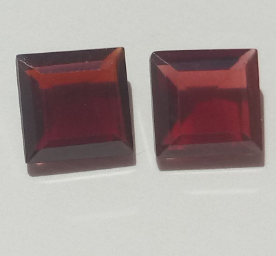 1.52 ct. each Garnet Octagon 2 stones
