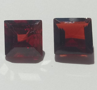 2.04 ct. each Garnet Octagon 2 stones