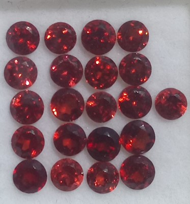 Awaiting Update 5.00 ct. Garnet Round 21 stones
