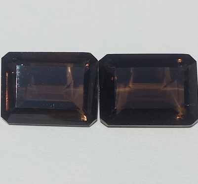 20.54 ct. Smoky Quartz Pair